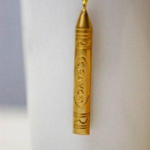Crayon Necklace/bracelet/anklet, Nerdy, Handmade